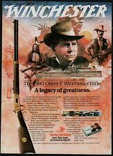 1980 OLIVER F. WINCHESTER Model 94 Commemorative Rifle PRINT AD Advertising