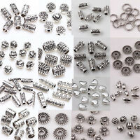 50/100Pcs Mixed Tibet Silver Loose Spacer Beads Pendant DIY Jewelry Making Craft