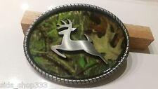 CAMO DEER FISHING camouflage BELT BUCKLES metal western hunting * US SELLER