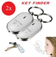 2x Wireless Whistle Key Finder Response w/ Flash LED Anti-Lost Ring Beep Sound