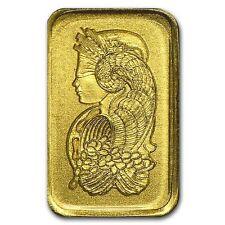 Gold 1 Gram 1g Pamp Suisse Bar .9999 Fine Multigram Fortuna (In Assay) Divisible