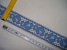10 m dentelle ancienne bleu pastel 40 mm (réf C56)