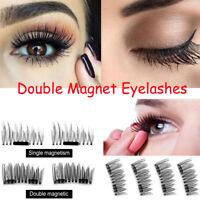 2 Pairs 3D Magnetic Eyelashes Reusable False Magnet Eye Natural Lashes Extension