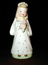 Porcelain Catholic Religion First Communion Girl Figurine #S2238 Japan - So Cute