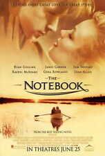 THE NOTEBOOK Movie POSTER 27x40 L Ryan Gosling Rachel McAdams Tim Ivey Starletta