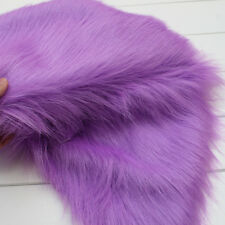 "lavender SHAGGY FAUX FUR FABRIC LONG PILE FUR costumes photo backdrops 60"" BTY"