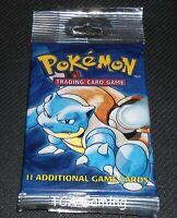 SEALED Base Set Booster LONG Pack - Blastoise Art - WOTC Pokemon Cards - LIGHT