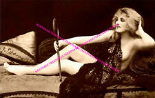 SEMI-NUDE LADY ON DEVON, NEW ORLEANS PROSTITUTE 6x10 PHOTO E.J. BELLOCQ  Z-EJB3