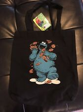 NEW COOKIE MONSTER TOTE TRAVEL HAND BAG POUCH SESAME STREET GREAT GIFT PURSE