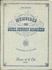 BALZAC, Honoré. Mémoires de deux jeunes mari. Presses de la cité, 1946