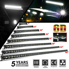 7/14/20/26/32/38/44/50 6D Slim Single Row LED Light Bar for UTV SUV Pickup Truck