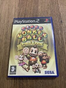 SUPER MONKEY BALL DELUXE PLAYSTATION 2 PS2 PAL GAME COMPLETE WITH MANUAL