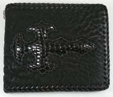NEW CROSS GENUINE LIZARD SHARK SKIN LEATHER MENS BIKER ROCKER PUNK REAL WALLET