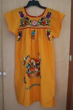Handmade MEXICAN Embroidered Girls Dress  Sz 8