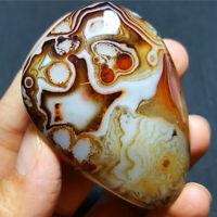 HOT67.6g Natural Polished Banded Agate Crystal Madagascar  E21+