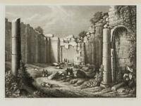 B. METZEROTH (19. Jhd.), D. Sonnentempel z. Baalbek, Libanon, 19. Jhd., Stahlst.