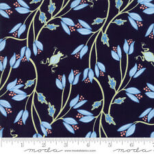 MODA Fabric ~ BLOOMSBURY ~ by Franny & Jane (47511 12) Navy - by 1/2 yard