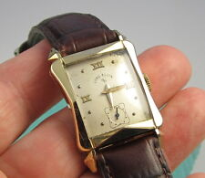 Vintage 1940s Elgin 14K Gold Filled 21 Jewel Mechanical Hour Glass Shape Watch