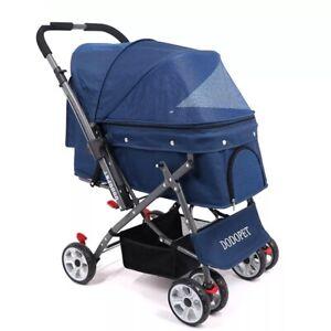 Luxury Pet Cat Dog Baby Newborn Stroller Carrier 4 Wheels Outdoor Walking 30KG