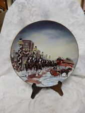 "BUDWEISER CLYDESDALE PLATE~""THE PERFECT CHRISTMAS""~SUSAN RENAE SAMPSON~1992"