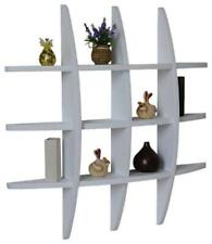 Special Offer Globe Shape Floating Wall Shelf with 6 Cross Display Wood Shelfs
