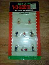 Ho scale trains hobby city life with people moped Life Like hand painted  s119R
