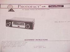1974 TRUETONE AM RADIO SERVICE MANUAL MED4051A-47 (DC4051) CHEVROLET FORD DODGE