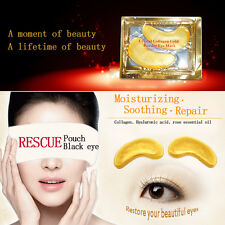 10Pairs Crystal Gold Collagen Eye Gel Mask for Dark Circles, Bags, Wrinkles Well