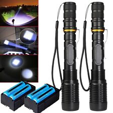 2X Most Powerful 110000LM Tactical 5Mode Zoom Flashlight LED Hunting Focus Torch