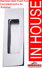 Square Edge Stainless steel Flush pull,handles- polished finish 120x40mm