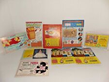 Collection of 9 old Gambling Punch Game Cards,