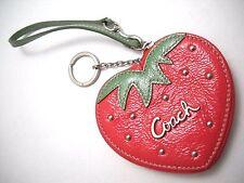 Designer COACH Strawberry Coin Purse/Wristlet/Key Ring (#60881) $78MSRP