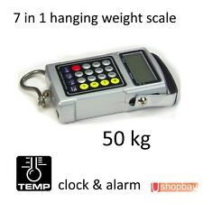 Digital Hanging Weigh Fishook Scale for Fishing Luggage up to 50kg 7 in 1