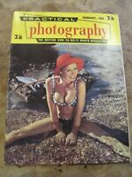 February 1968 Practical Photography magazine -Pretty Lady on beach in Bikini