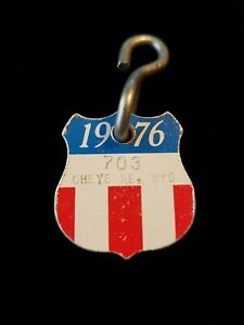 Vintage 1976 Cheyenne Wyoming #703 Dog Tag License Tax Registration BICENTENNIAL