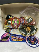 60 Vintage Boy Scouts Patches Space Derby Founders Award Ronald Reagan 80's 90's