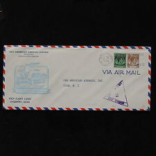 ZS-AB774 MALAYA - Pan Am Airways, 1941 First Flight Singapore Guam Cover