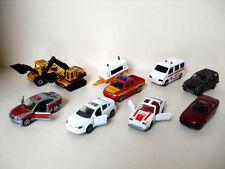Majorette Konvolut Bagger Radlader Ambulance Peugeot BMW Modellautos 10 Stück