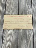 Vintage La Salle Coca Cola Bottling Company Receipt 1955 $3.50 Total