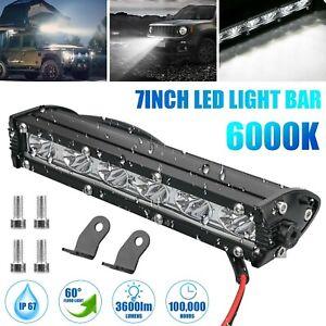 7'' 18W Spot LED Work Light Bar Lamp Driving Fog Offroad SUV 4WD Car Boat Truck