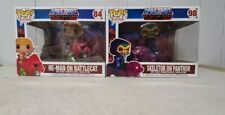 Masters Of The Universe  Funko Pops He-Man & Battle Cat Skeletor & Panthor