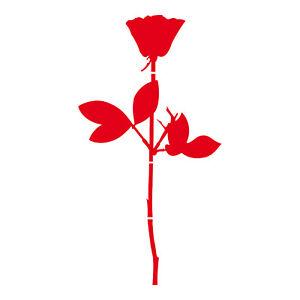 Rose 10cm Sticker Tattoo Car Window Door Mirror Foil Violator Depeche Mode