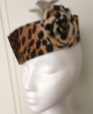 Leopard Print Vintage Style Bell Boy Hat