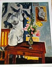 Henri Matisse Poster Plaster Figure Flowers Offset Lithograph Unsigned 14x11