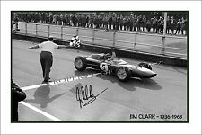 * JIM CLARK * Signed poster of F1 world champ! Perfect present or memorabilia
