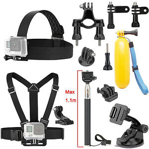 Floating Grip Head Chest Kit For Waterproof Action Cam 12MP/EX5000 WIFI 14MP FHD