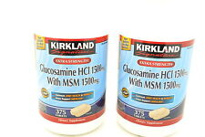 2 Pack Kirkland Signature Extra Strength Glucosamine HCI 1500mg With MSM 375ct