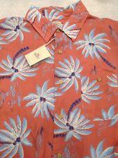 Faherty Rayon Red Palm Hawaiian Short Sleeve Sport Shirt NWT  Large $158
