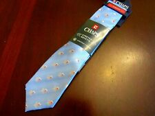 mens chaps by ralph lauren stretch silk tie nwt blue boston terrier