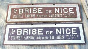 2 Anciens carton publicitaire brise de nice coffret parfum nouveau- vallauris